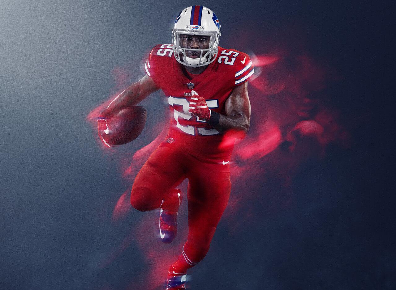 hot sale online c6f91 b4dc9 All NFL Color Rush Uniforms & Jerseys | Logos! Lists! Brands!